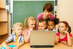 children with their teacher